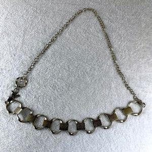Chico's Silver Textured Chain Link Adjustable Belt